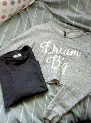 🚚 H&M DreamBig混色短版上衣