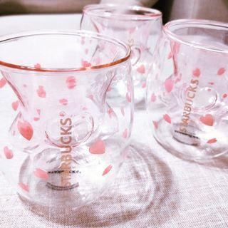 星巴克貓掌玻璃杯(粉色)