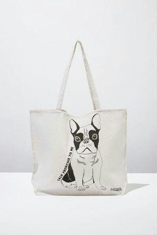 New! Cotton On Tote Bag French Bulldog