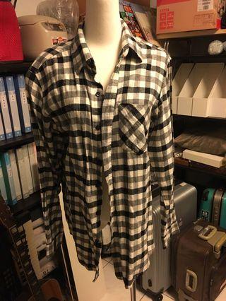 格子襯衫-長袖