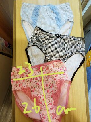 日單Panty underwear 女裝樓棉質內褲x3