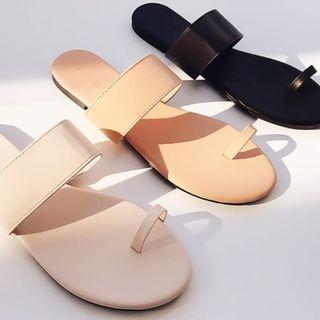 韓國新款皮革涼鞋