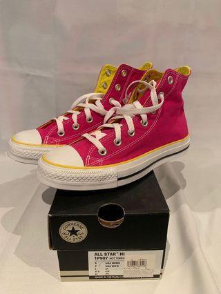 Converse All Star Hi Hot Pink/Yellow