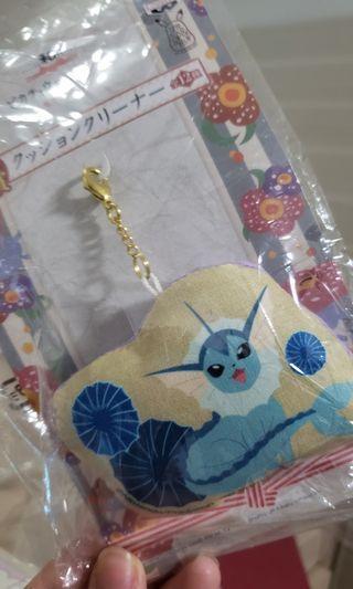 pokemon 水伊貝和風電話螢幕清潔掛飾