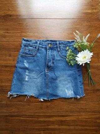 Korean denim skirt