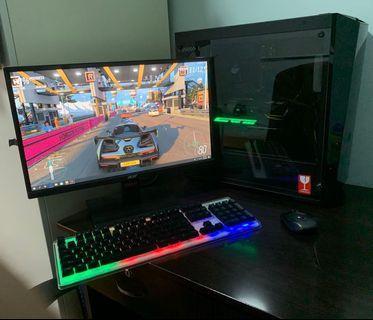 🚚 NEW* i5 7600 / GTX 1070 / 8GB RAM / 400GB SSD / RGB LED / High-End Gaming Full Setup PC