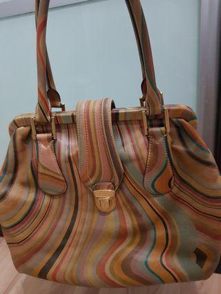 AUTHENTIC LEATHER PAUL SMITH TOTE IN VINTAGE SWIRL