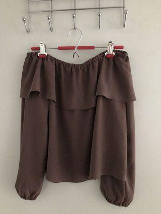 Wilfred Morel off the shoulder blouse from Aritzia