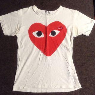 fac0ef1d8 comme des garcons play heart | Clothes | Carousell Singapore