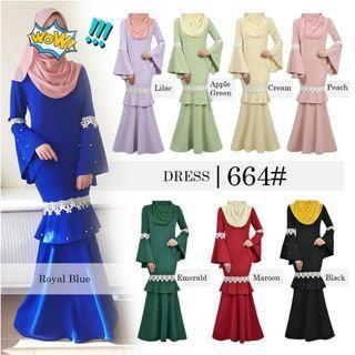 Jubah dress size 40 42 44