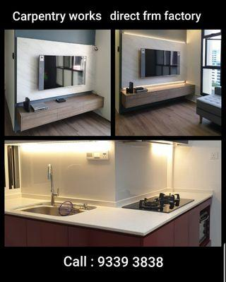 Carpentry works direct from factory call : 9339 3838