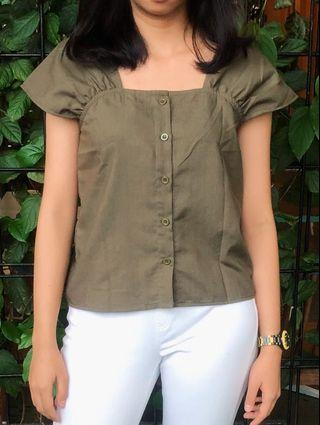 NEW Green Army Blouse Import BKK