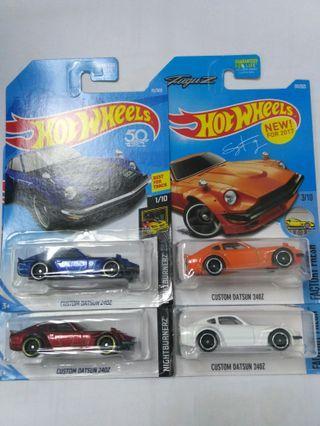 Lot Of 4 Us Card Hot Wheels Custom Datsun 240Z