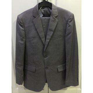 Onesimus grey suit coat jacket and pants set