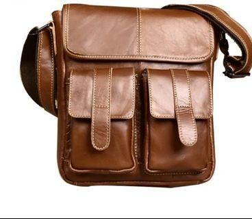 TRAVEL Genuine Leather bag shoulder messenger bag