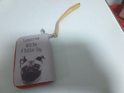 Cute pug wallet