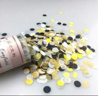 [PRE ORDER] Pusp up Pop Confetti (Black/Gold/White/Yellow)