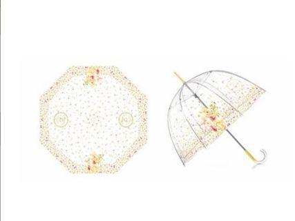7-11 香港代購 迪士尼小熊維尼透明長遮 雨傘