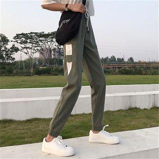 #192 (3 COLOURS) ulzzang korean drawstring sweatpants joggers trendy black pink green long pants