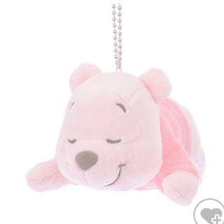 超可愛日本迪士尼帶回全新正版付吊牌花粉色限量絕版維尼吊飾