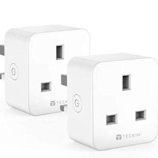 TECKIN Smart Plug WiFi Socket Mini Outlet, Works with Amazon Alexa Echo Google Home, 16A (2 Pack)