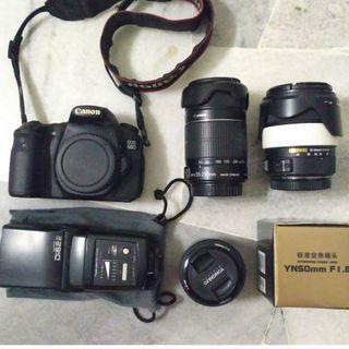 [WTS] Canon 60D, Canon 55-250mm IS II, Sigma 18-50mm, YN 50mm f1.8 & Nissin Di622 Mark II