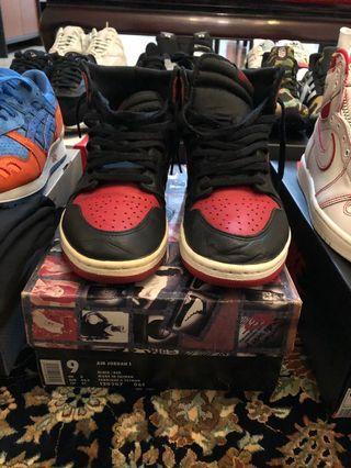 """US9 1994 Nike Air Jordan 1 """"BRED"""""""