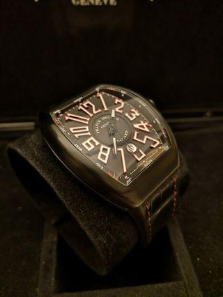 Franck Muller Vanguard Titanium Black PVD Red Numbers V45
