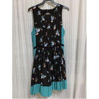 Oasis Floral Tea Skater Fit Abd Flare Floral Dress UK12 #endgameyourexcess