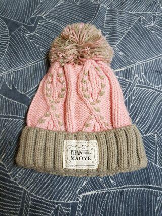 🚚 粉色毛帽