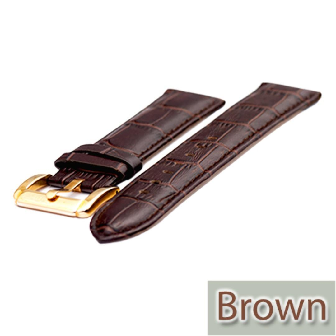 22mm Balmer Genuine Leather Watch Band With Fine Stitches and Spring Bars
