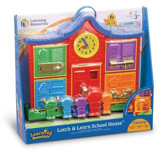 Learning Resources Latch & Learn School House