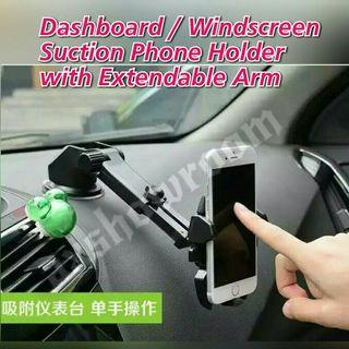 Universal Dashboard Clamp Holder with Strong Magnetic base For Mobile Phones Or GPS. Suitable For most Devices