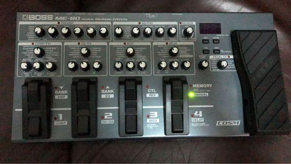 Boss ME-80 multi effector  , 90% new , with box and manuals