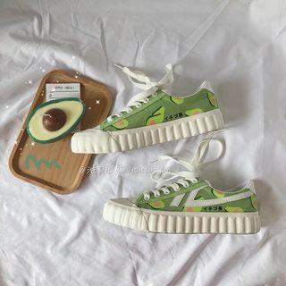 [P.O] Ulzzang Avocado Sneakers