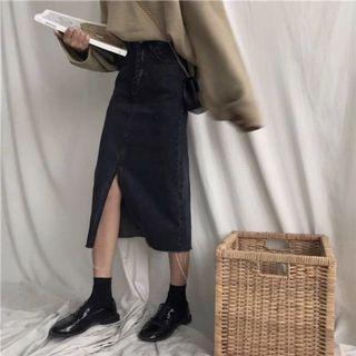 ulzzang denim skirt