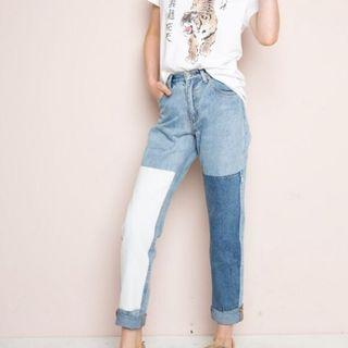 brandy melville two toned jeans