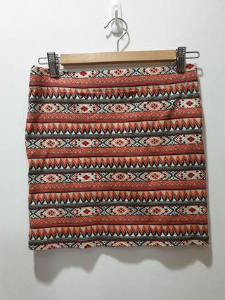 F21 tribal skirt (medium)