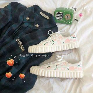 [P.O] Ulzzang Peach Sneakers