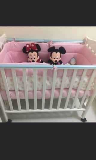 環保價 C MAX BB床 嬰兒床 床褥 床圍