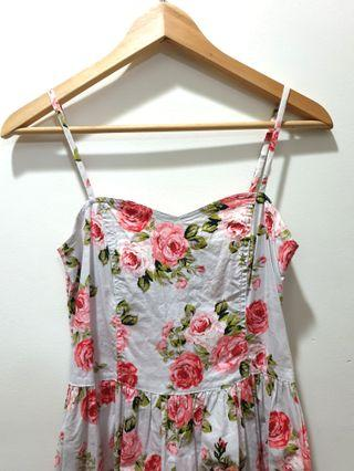 F21 Sweet floral bow-back dreds