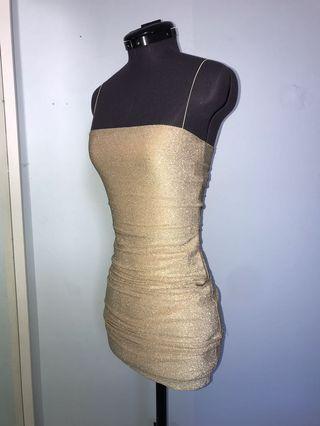 Meshki gold dress