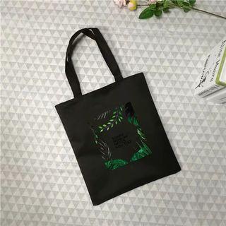 黑色 草叢 帆布包 大容量 防水