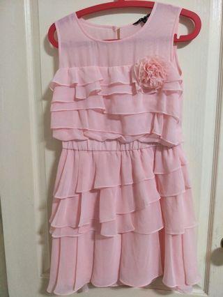 專櫃粉粉洋裝