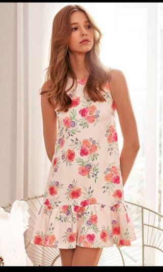 The closet lover sorra floral Dropwaist dress