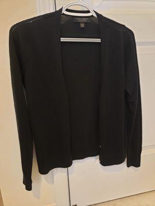 Banana Republic Silk Cashmere Cardigan Black XS