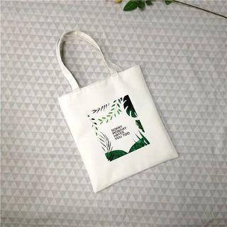 草叢 白色帆布包 大容量 防水