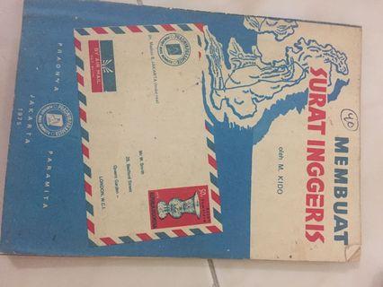 Buku tulis surat bahasa inggris