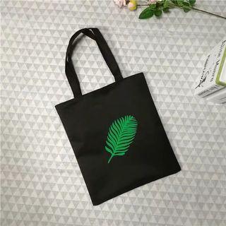 葉子🍃黑色帆布包 防水 大容量