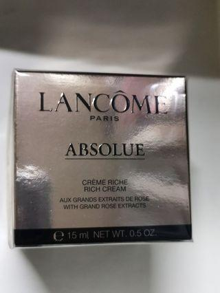 Lancôme ABSOLUE RICH CREAM 15ml$150